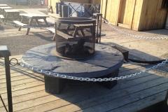 mobilier table de feu en ardoise 1