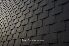 recouvrement tuile ardoise sur mur slate roofing for wall