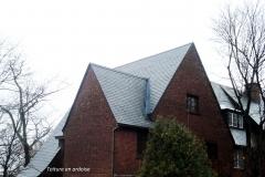 toiture en ardoise slate roofing