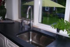 comptoir, evier en sous montage, slate sink undermount, counter top