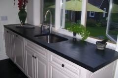 comptoir noire surface polie, slate counter top black